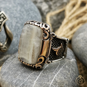 Moonstone Silver Custom Men's Ring