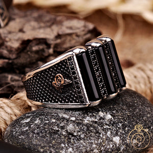 Onyx Stone Custom Imperial Signet Men's Ring