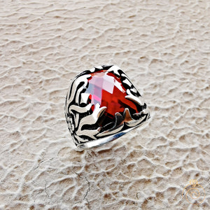 Ivy Style Ruby Stone Men's Ring