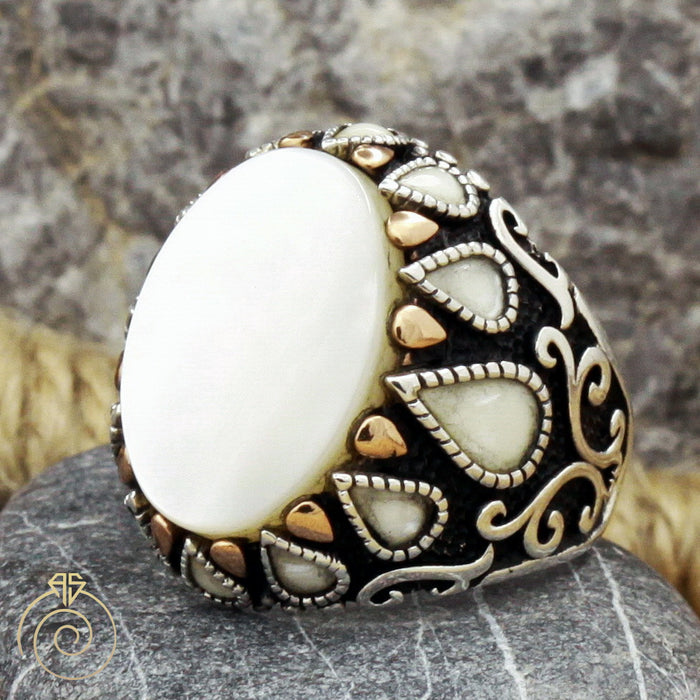 Mother of Pearl Victorian Ring