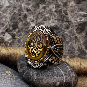occult vintage boho silver ring