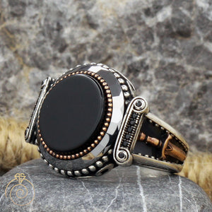 onyx-black-gemstone-silver-ring