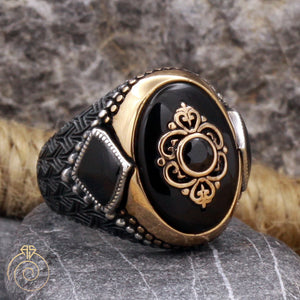 onyx-black-quartz-men's-ring