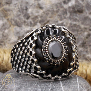onyx-black-silvre-men's-ring