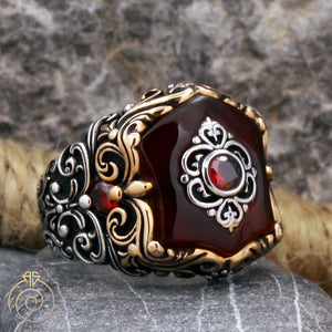 ruby-red-stone-men's-ring
