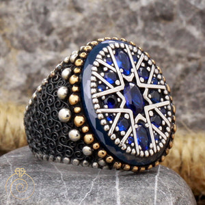 sapphire-blue-gemstone-men's-ring