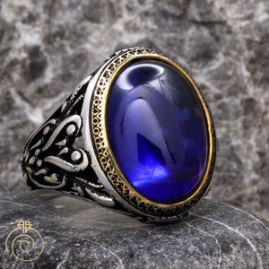 sapphire-blue-mens-silver-ring