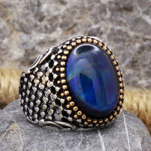 tiger-eye-silver-men's-ring