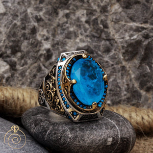 turquoise-natural-stone-crown-ring