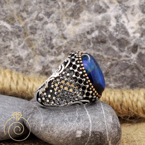 vintage-unique-blue-silver-ring