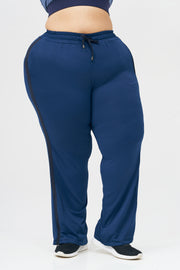 Girl on Track Pants: Blue