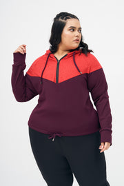 Ms. Zippy Crop Hoodie: Red