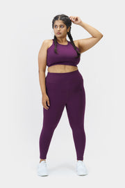 Strappy Sports Bra: Dark Purple