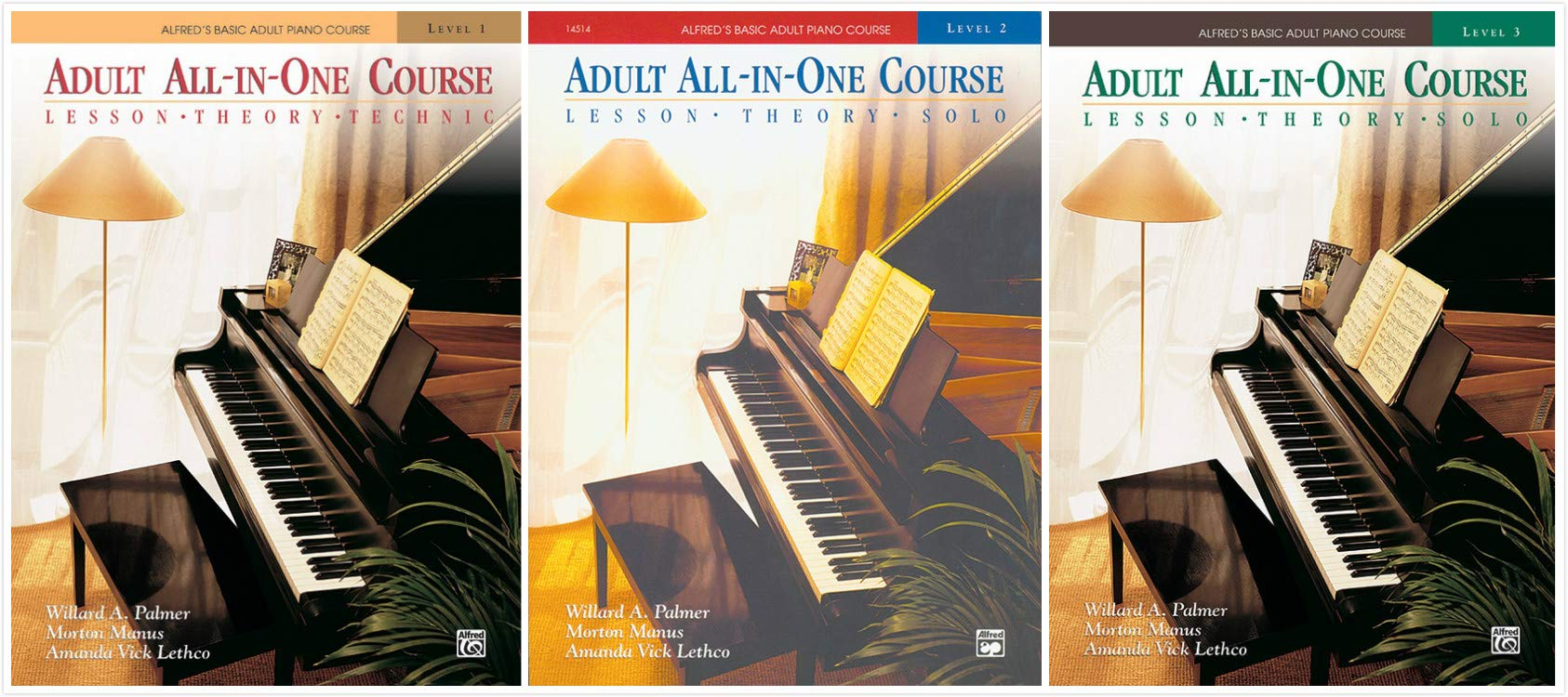 Alfred's Basic Adult Piano: All-In-One 3 Book Set