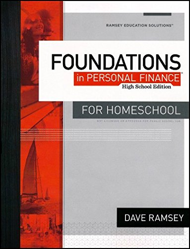 Foundations in Personal Finance Workbook High School Edition For Homeschool by Dave Ramsey