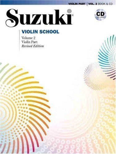 Suzuki Violin School Revised Edition Violin Part Book & CD Volume 2