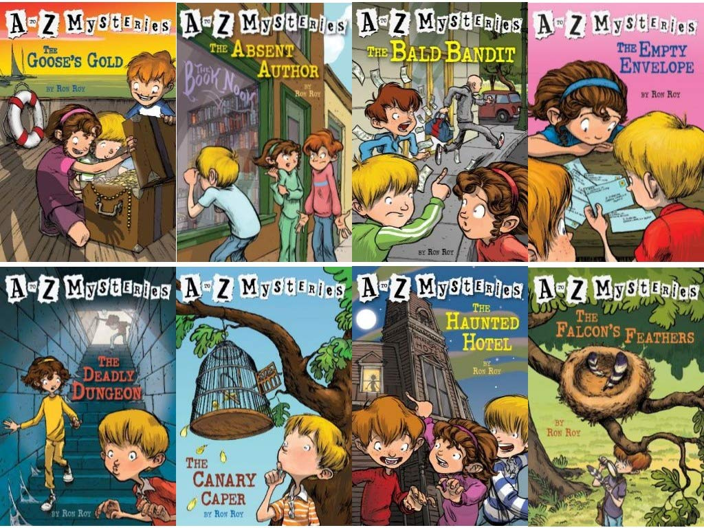 A to Z Mysteries Boxed Set, Books A to H: The Absent Author, The Bald Bandit,  The Canary Caper,  The Deadly Dungeon, The Empty Envelope, The Falcon's Feathers, The Goose's Gold, and The Haunted Hotel [Paperback] Ron Roy and John Steven Gurney