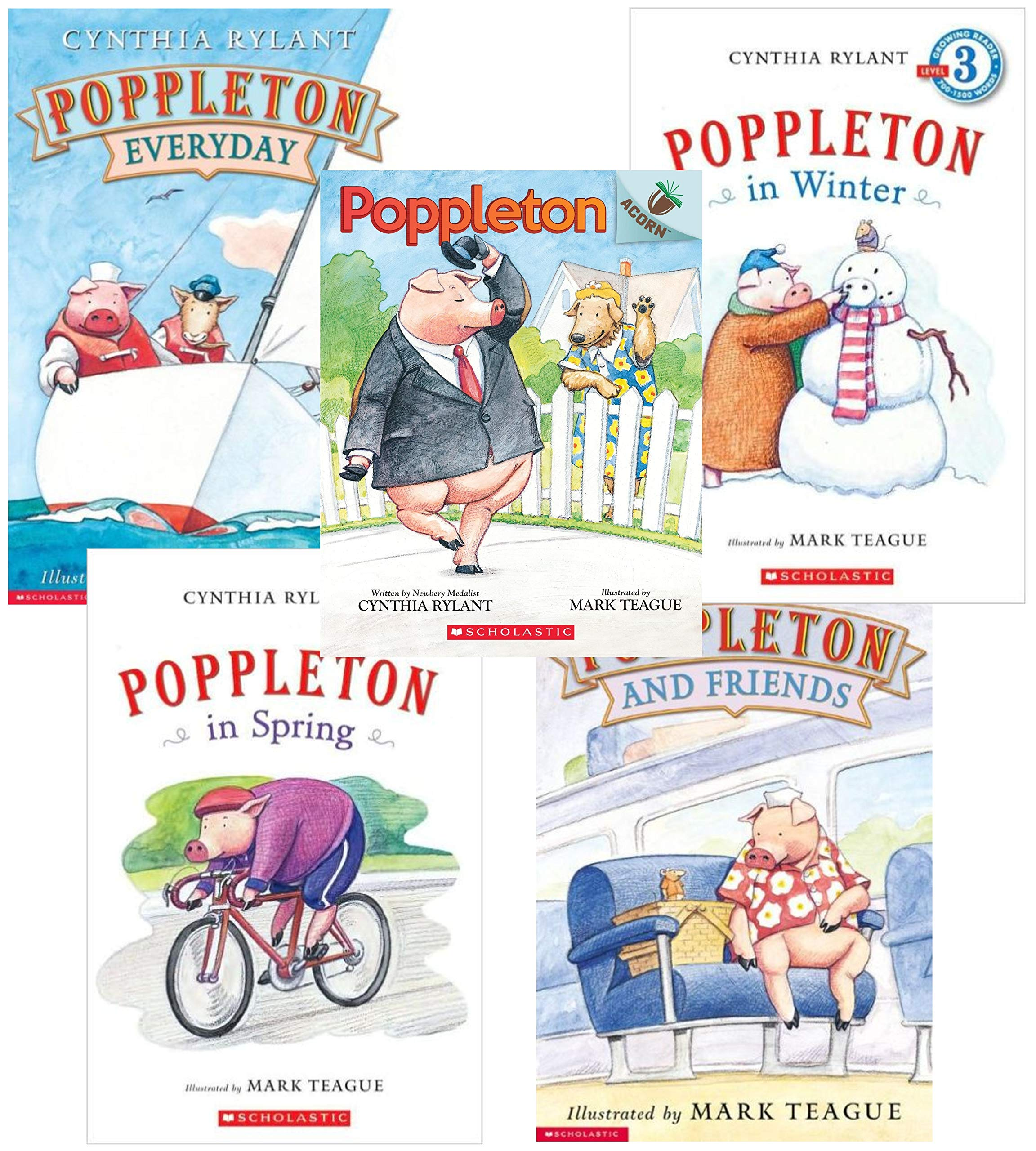Poppleton Set of 5 by Cynthia Rylant