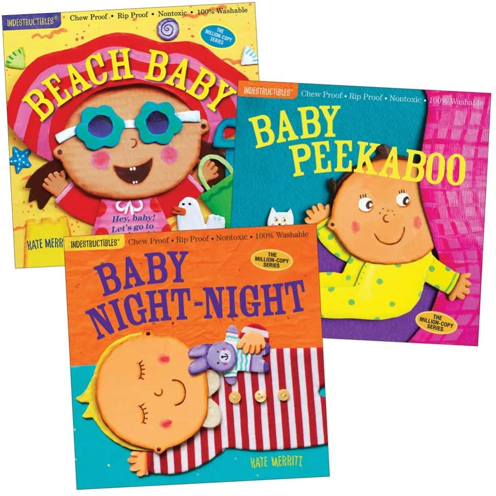 Indestructibles Baby Books - Set of 3 by Amy Pixton