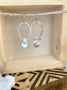 Alia Earrings with Freshwater Pearls - 14k Gold Filled or Sterling Silver