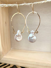 Load image into Gallery viewer, Alia Earrings with Freshwater Pearls - 14k Gold Filled or Sterling Silver