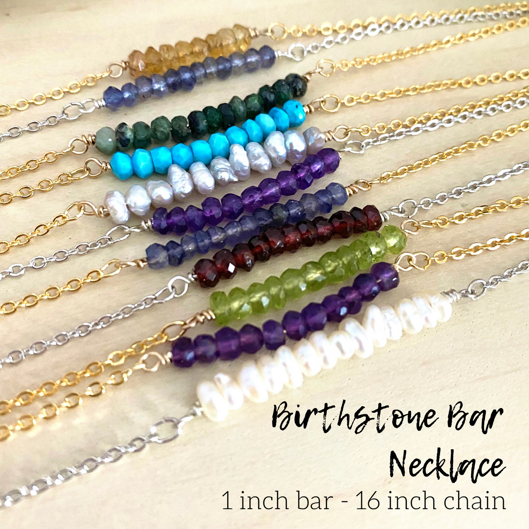 Birthstone Bar Necklace