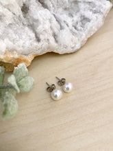 Load image into Gallery viewer, White Freshwater Pearls on Surgical Steel Posts - 7.5-8mm