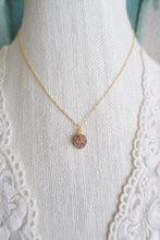 Load image into Gallery viewer, Rose Gold Druzy Necklace