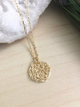 Load image into Gallery viewer, Wire Crochet Tina Necklace - Delicate Lacy Pendant Necklace - Sterling Silver or Gold Fill
