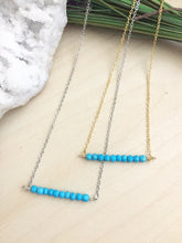 Load image into Gallery viewer, Turquoise Bar Necklace - 1 inch bar - Layering Necklace