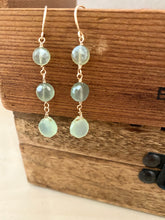 Load image into Gallery viewer, Green Chalcedony Drop Earrings - 14k Gold Filled