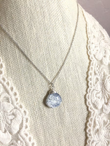 Dendritic Opal Gemstone Drop Necklace on a 16 inch chain
