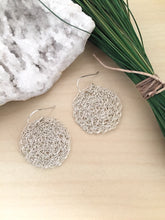 Load image into Gallery viewer, Wire Crochet Sterling Silver Nadia Earrings