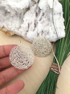 Wire Crochet Sterling Silver Nadia Earrings