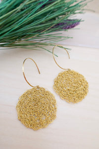 Wire Crochet Brass Lena Earrings