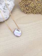 Load image into Gallery viewer, Single Lavender Gray Keshi Pearl Necklace