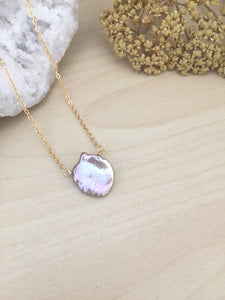 Single Lavender Gray Keshi Pearl Necklace