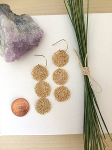 Delicate and lacy gold fill wire crochet earrings