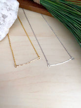Load image into Gallery viewer, Hammered Bar Necklace - Gold Fill or Sterling Silver