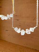 Load image into Gallery viewer, Large Herkimer Diamond Bar Necklace -2 inch bar - April Birthstone