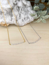 Load image into Gallery viewer, Herkimer Diamond Bar Necklace - 1 inch bar - April Birthstone