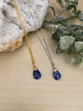Load image into Gallery viewer, Lapis Lazuli Gemstone Drop Necklace