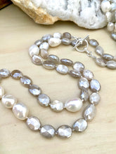 Load image into Gallery viewer, Freshwater Pearl and Moonstone Necklace with toggle clasp