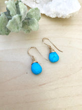 Load image into Gallery viewer, Turquoise Gemstone Drop Earrings - 14k Gold Fill or Sterling Silver