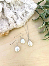 Load image into Gallery viewer, Freshwater Coin Pearl Necklace and Earring Gift Set in Sterling Silver