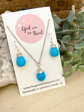 Load image into Gallery viewer, Turquoise Necklace and Earring Gift Set in Sterling Silver
