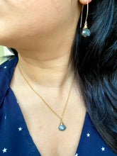 Load image into Gallery viewer, Black Labradorite Necklace and Earring Set - 14k Gold Filled