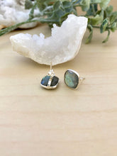Load image into Gallery viewer, Labradorite studs on sterling silver posts