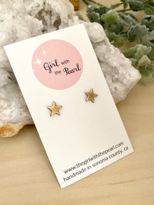 Gold Star Studs on Surgical Steel posts