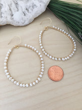 Load image into Gallery viewer, Freshwater Pearl Hoops with 14k Gold Fill Wire
